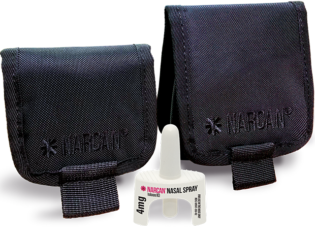Narcan pouches compact and large